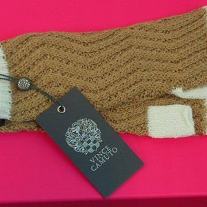Vince Camuto Armwarmers Brown Wool Women's Gloves